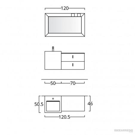 bagno mobili design misure Funky 06 BMT Bagni