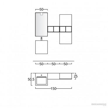 arredo bagno design scheda tecnica BMT Bagni
