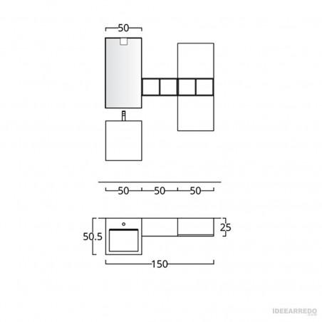 fiche technique design mobilier de salle de bain BMT Bagni
