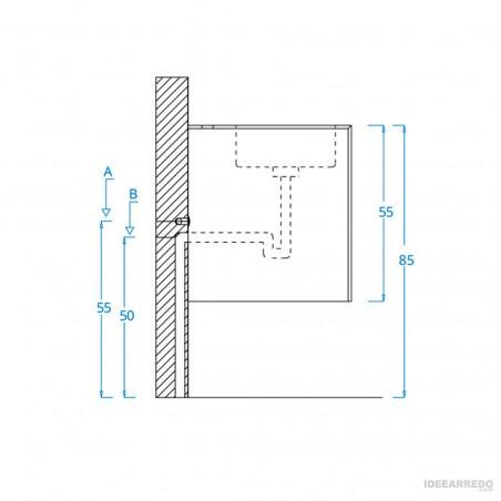 propose des meubles de salle de bain modernes Funky 07 BMT Bagni