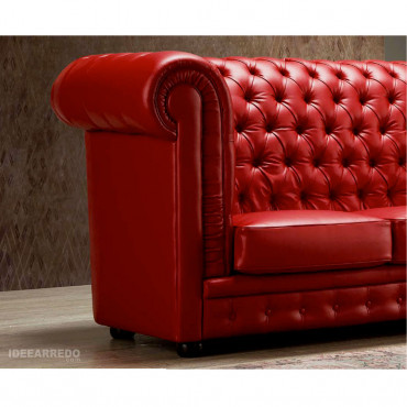 divani pelle rosso Viterbo IDEEARREDO.com