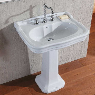 vasque de style avec colonne 70 Impero Olympia Ceramica