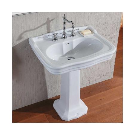 classic washbasin with column 70 Impero Olympia Ceramica