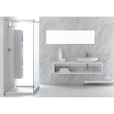 Olympia Ceramica wall-hung top for washbasin with open compartment