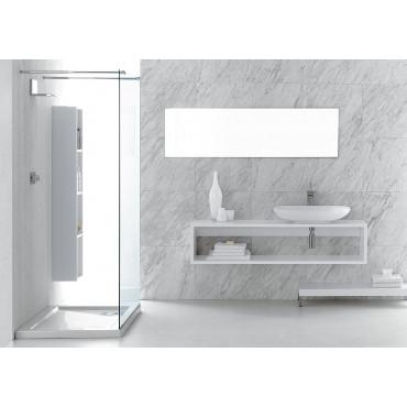 Olympia Ceramica Wandaufsatz für Waschbecken mit offenem Fach
