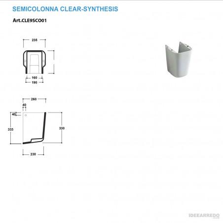 semicolonna lavabo Clear Olympia Ceramica