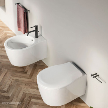Formosa 2.0 Olympia Ceramica pair of rimless suspended sanitary ware