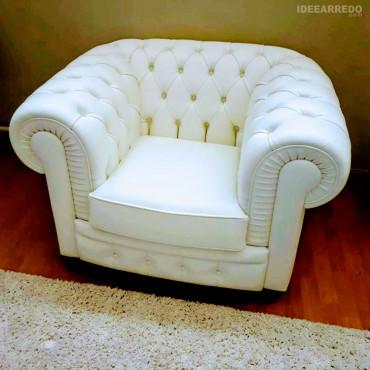 fauteuil chesterfield blanc IDEEARREDO.com