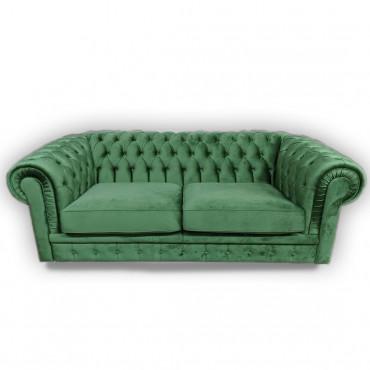divano velluto verde Gallese IDEEARREDO.com