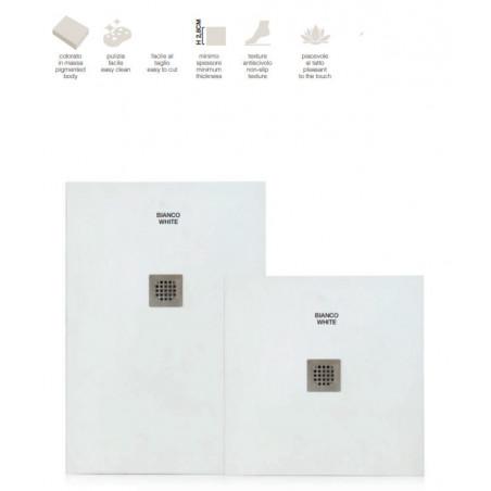 Receveurs de douche rectangulaires et carrés en marbre résine Plan