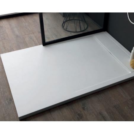 Piatto doccia in marmo resina rettangolare bianco Slide Colacril