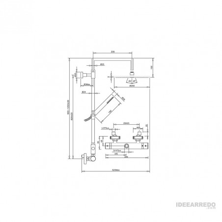 colonna doccia termostatica come funziona ZD-T360 Gaboli Fratelli Rubinetteria