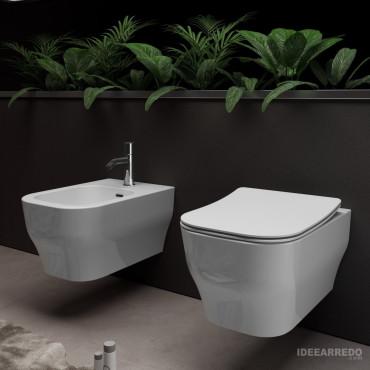 sanitaires suspendus sans jante prix Synthesis Eco Olympia Ceramica