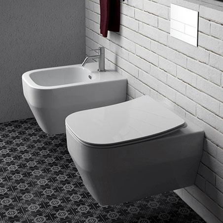 sanitaire suspendu sans monture Synthesis Eco Olympia Ceramica
