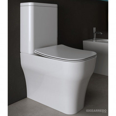 Monoblock-WC mit Spülkasten Synthesis Eco Olympia Ceramica