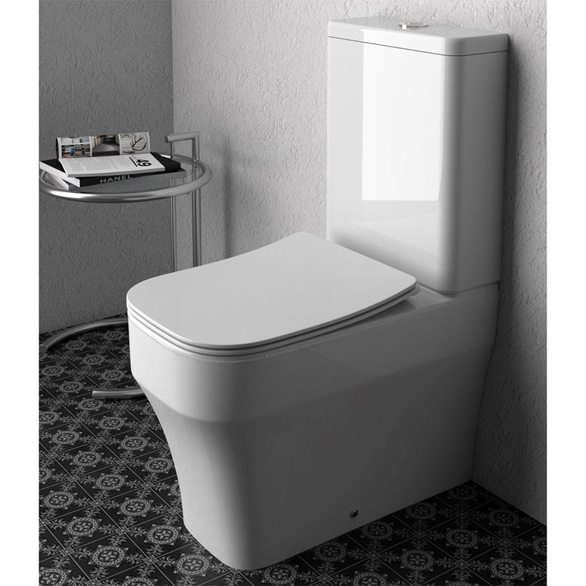 Toilette monobloc avec réservoir Synthesis Eco Olympia Ceramica