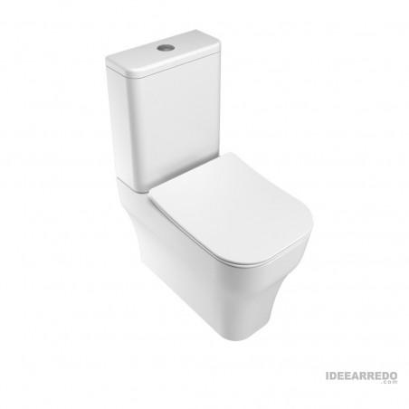 vaso wc monoblocco con cassetta Synthesis Eco Olympia Ceramica