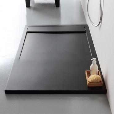 Piatto doccia in marmoresina nero rettangolare h3 Slide Colacril