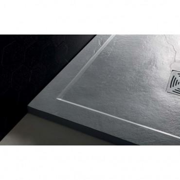 dettaglio piatto doccia Flat con bordo marmoresina