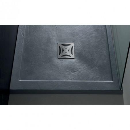 piatto doccia grigio cemento marmo resina Flat con bordo