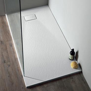 Plato de ducha en poliéster Colacril blanco SMC ECO