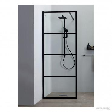 cabina de ducha de esquina negra 8PAR53W Colacril