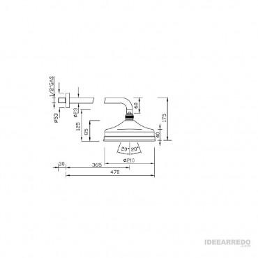 soffione doccia 20 cm Gaboli Fratelli Rubinetteria LI503