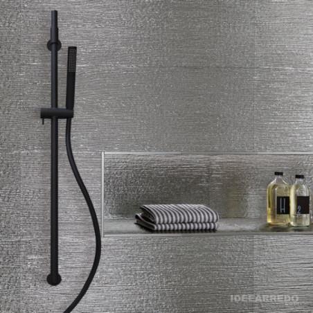 black shower rail AI500 Gaboli Flli Rubinetteria