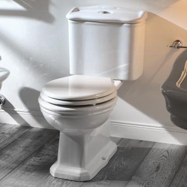WC con cisterna exterior con desagüe en el suelo