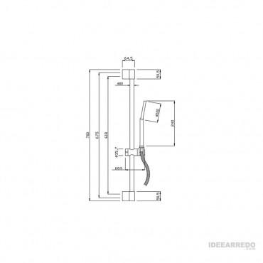 barre de douche pour salle de bain SL500 Gaboli Fratelli Rubinetteria