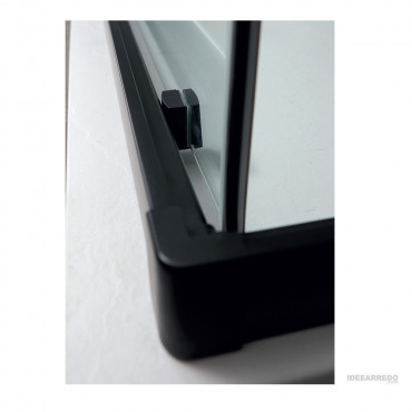 Box doccia profili neri angolare con ante scorrevoli Rapid Colacril dettaglio