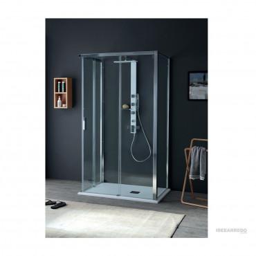 Cabina con porta doccia scorrevole centro parete QUICK Colacril