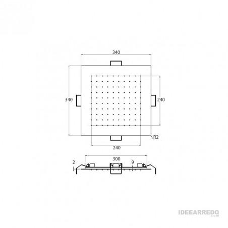 soffione doccia 30x30 VI509/34 Gaboli Flli rubinetteria