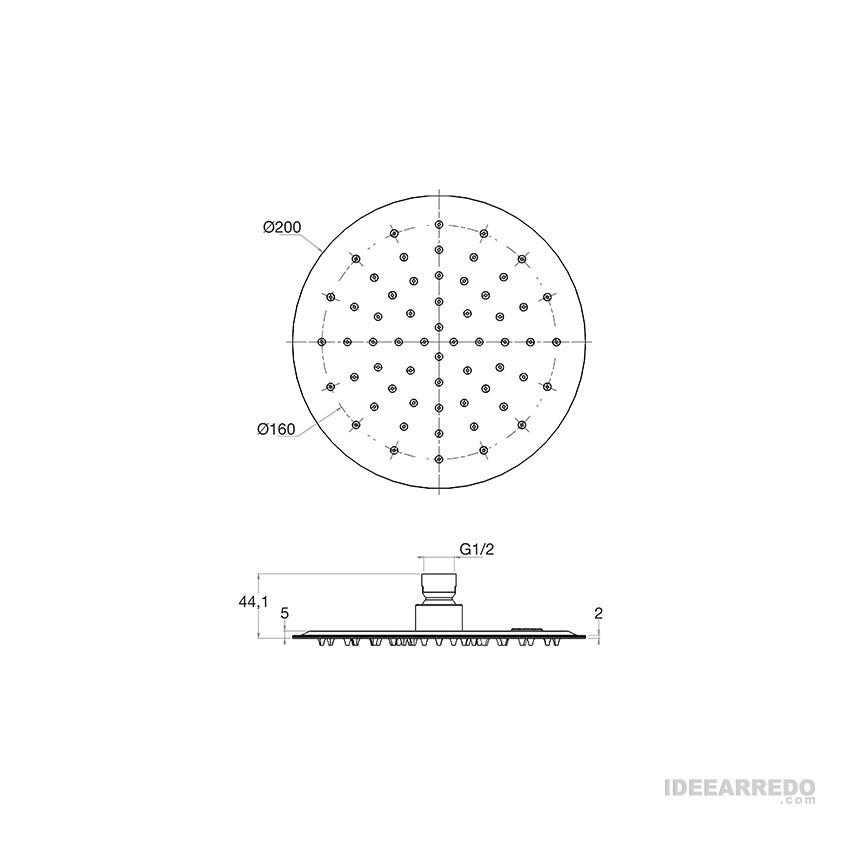soffione anticalcare KY510/20 Gaboli Flli rubinetteria