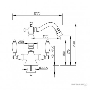 rubinetti stile inglese Lotus 917 Gaboli Fratelli rubinetteria