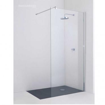 Begehbare Duschkabine mit offener Ecke 8 mm Festglas 8PAR53 Colacril
