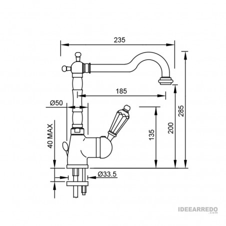 miscelatore bronzo New Vintage 6150 Gaboli Flli rubinetteria