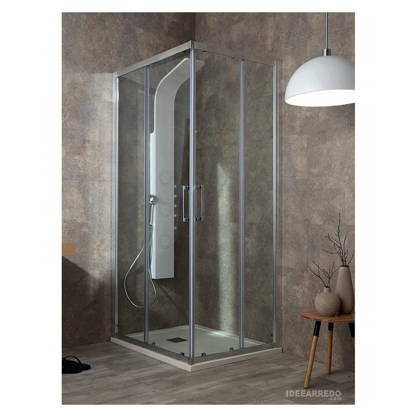 Cabina doccia ad angolo Flex, box doccia ante scorrevoli Colacril
