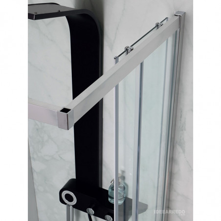 Profili cabina doccia ad angolo Flex Colacril - box doccia vetro satinato o trasparente, cincillà