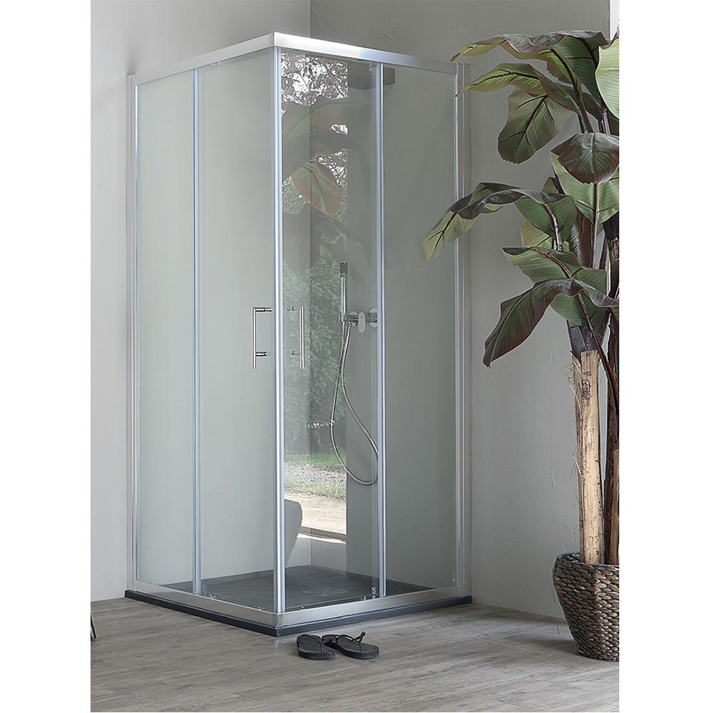 Box doccia ad angolo, cabina doccia quadrata Eco Colacril
