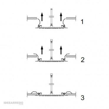 soffione incasso controsoffitto montaggio MI509 Gaboli Fratelli Rubinetteria