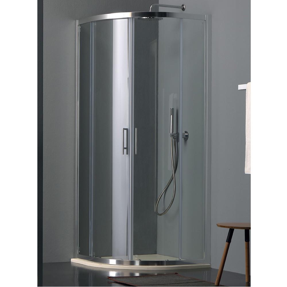 Box doccia semicircolare scorrevole, doccia a angolo Eco Colacril