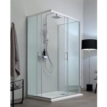 Mittelwand-Duschkabine mit Eco Colacril-Duschschiebetür