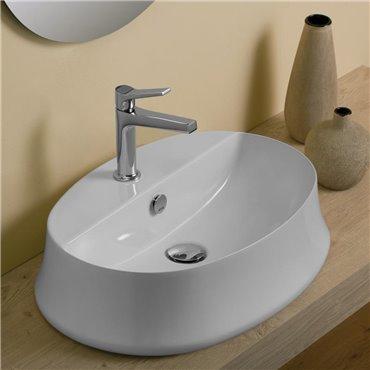 Ovales Aufsatzwaschbecken SH05 Sharp Ceramica Simas