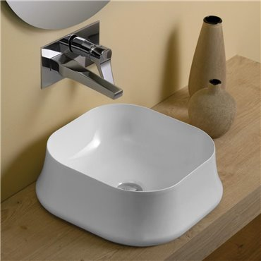 Quadratisches Aufsatzwaschbecken SH06 Sharp Simas Ceramica