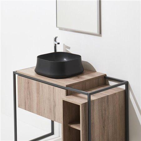 lavabo nero opaco SH06 Sharp Simas Ceramica