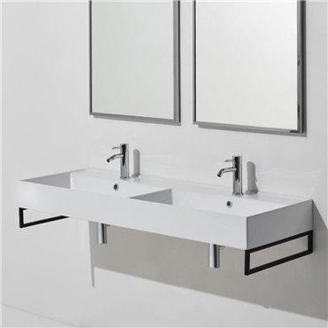 Doppio lavandino bagno lavabo doppio 120 cm Agile AG121D Simas