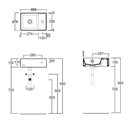 lavabo bagno misure ridotte Agile AG40 Simas