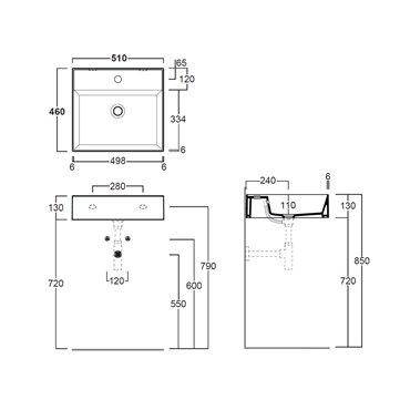 lavandini bagno sospesi AG51 Agile Simas