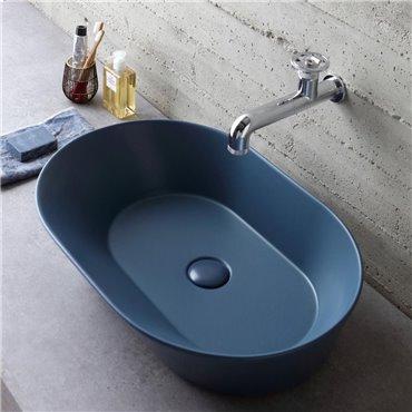 Blaues Waschbecken WA02 Wave Ceramica Simas